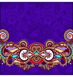Paisley design on decorative floral violet colour vector