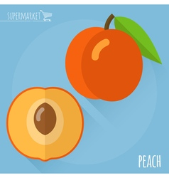 Peach icon vector image vector image