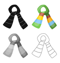 Scarf for boy and girl in cold weather coton vector