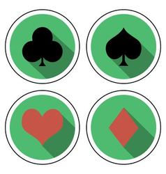 Suit playing cards flat style vector