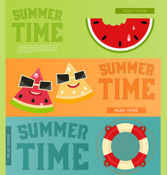 Summer time banners set vector