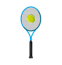 tennis sport equipment icon vector image