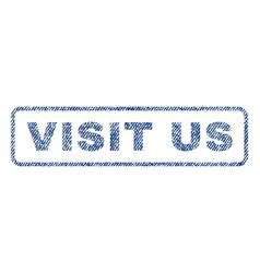 Visit us textile stamp vector