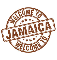 welcome to jamaica vector image vector image