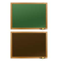 Wood school desks set vector image vector image