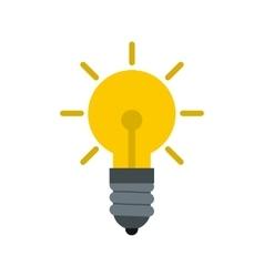 Light bulb icon flat style vector