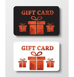 Gift card templates with abstract polygonal boxes vector