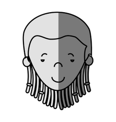 Jamaican woman character icon vector