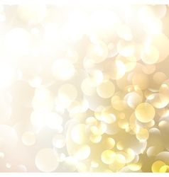 Beautiful defocused golden background vector