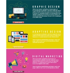 Icons for web design seo digital marketing vector