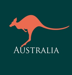 Sign silhouette kangaroo vector