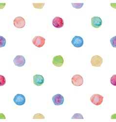 Watercolour polka dot seamless pattern vector