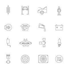 Auto service outline icon vector
