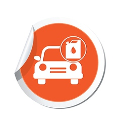 Cars oil canister orange label vector