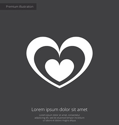 Heart premium icon vector
