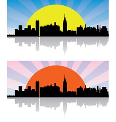 vector city background vector image