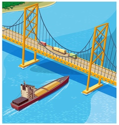 Bay bridge vector