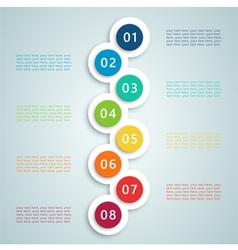Number steps inforgraphic 7 vector