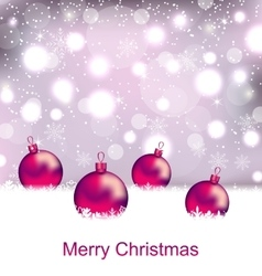 Shimmering card with balls for merry christmas vector
