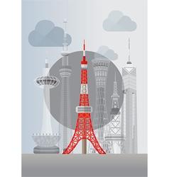 Japan tokyo tower vector