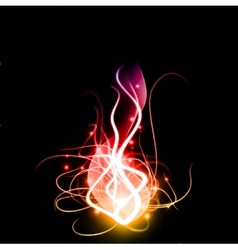 Abstract background with lighting effect vector image