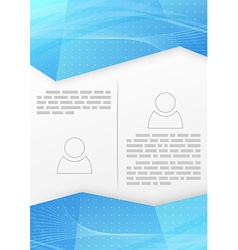 Abstract blue wave crystal brochure template vector image