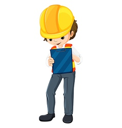 An engineer with a chart vector image