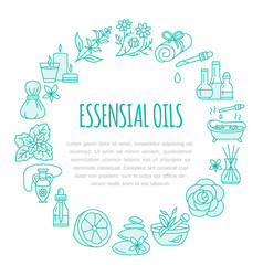 aromatherapy and essential oils brochure template vector image