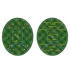australian rules football pitches vector image vector image