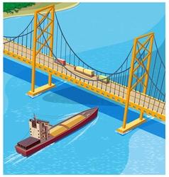 Bay bridge vector
