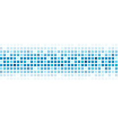 Blue abstract squares tech mosaic background vector