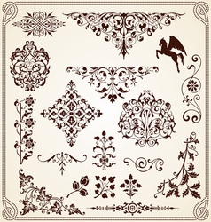 Calligraphy decorative ornaments design elements vector