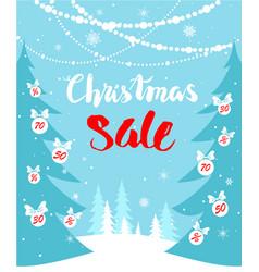 christmas sale seasonal card vector image vector image