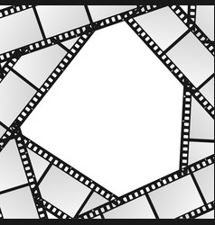 cinema movie film stripe or reel background vector image vector image