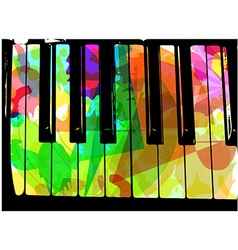 colorful piano vector image