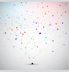connecting dots background vector image vector image