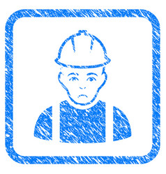 Contractor framed stamp vector
