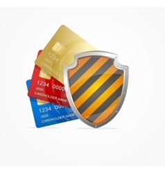 Credit card safety concept vector
