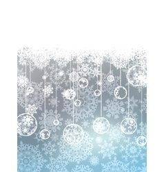 Elegant christmas with snowflakes eps 8 vector
