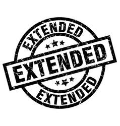 Extended round grunge black stamp vector