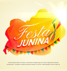 Festa junina celebration background for june vector