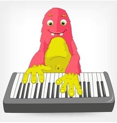Funny monster pianist vector