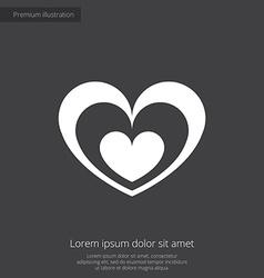 heart premium icon vector image vector image