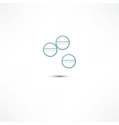 Medicine pills icon vector image vector image