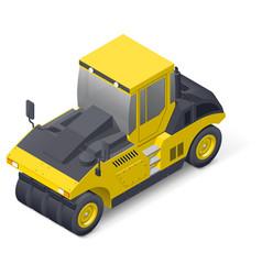 Pneumatic road compactor icon vector image vector image