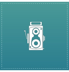 Retro professional cinema film camera vector image