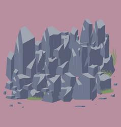 rock stone vector image vector image