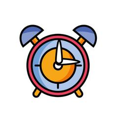 round clock alarm object design vector image