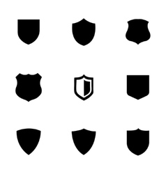 Shield icons set vector