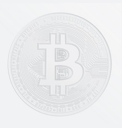 stamp on the paper of digital currency bitcoin vector image vector image